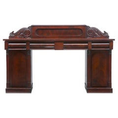 19th Century William iv Mahogany Pedestal Sideboard