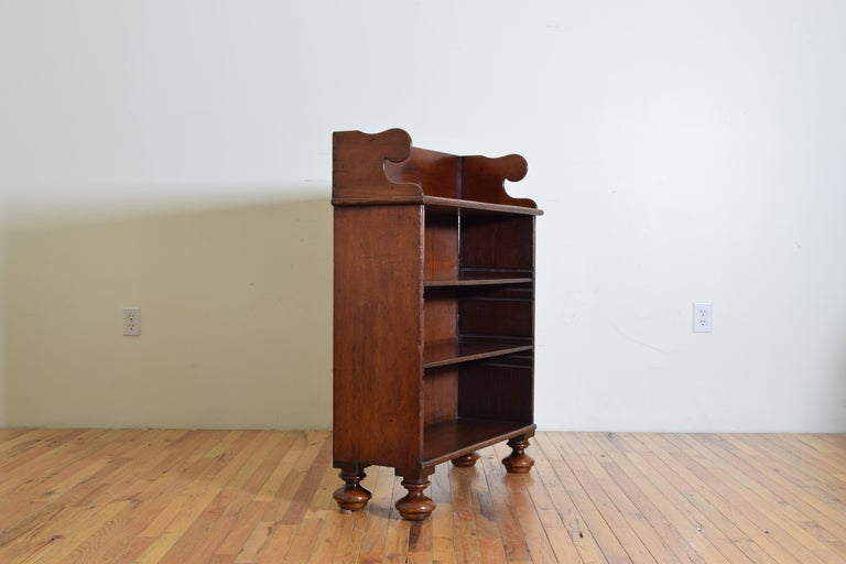 English 19th century William IV Rosewood 4 shelf Bookcase