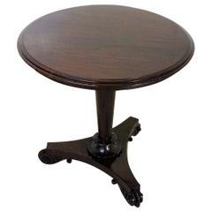 19th Century William IV Rosewood Lamp Table