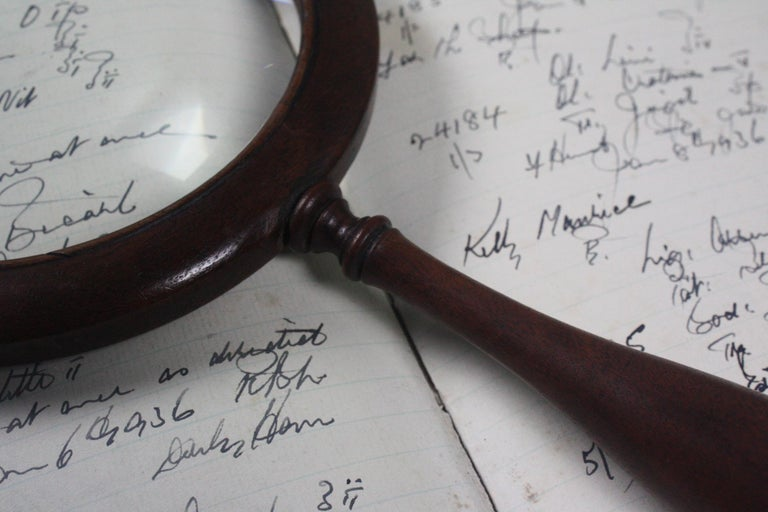 19th Century William the IV Mahogany Connoisseur Gallery Magnifying Lens In Good Condition For Sale In Lowestoft, GB
