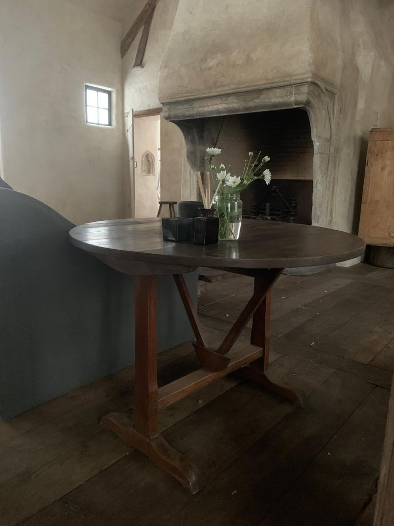 French 19th Century Wine Table Vigneron For Sale