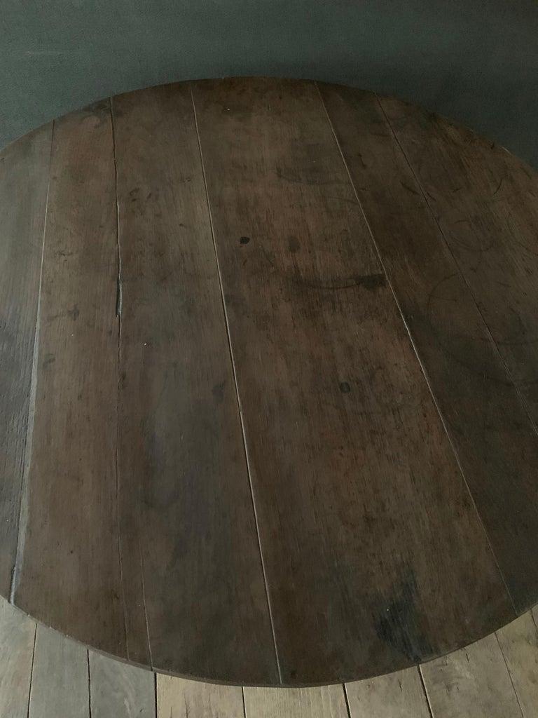 Elm 19th Century Wine Table Vigneron For Sale