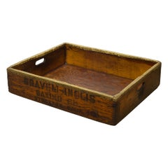 19th Century Wood and Brass Trimmed Baker's Bread Tray, circa 1880