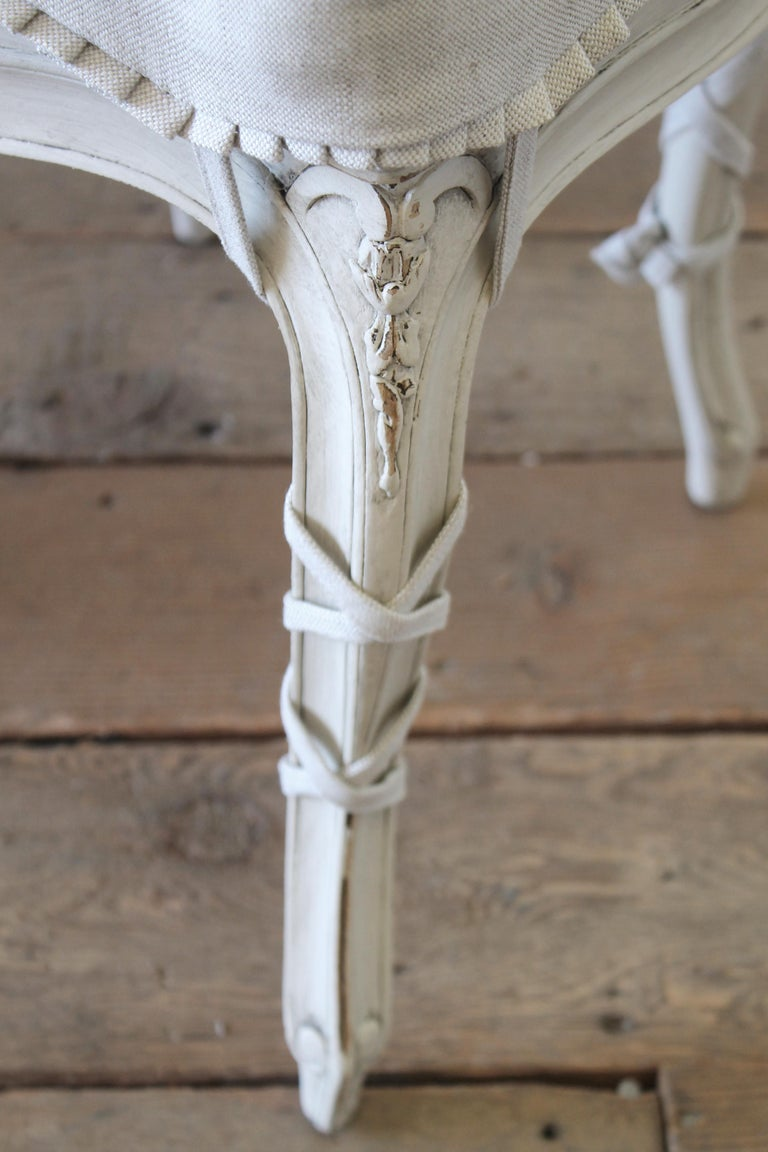 19th Century Wood And Cane Back French Country Style