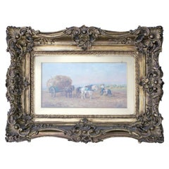 19th Century Wood Framed Oil on Canvas Painting Signed by Eugene Fromentin 1800s