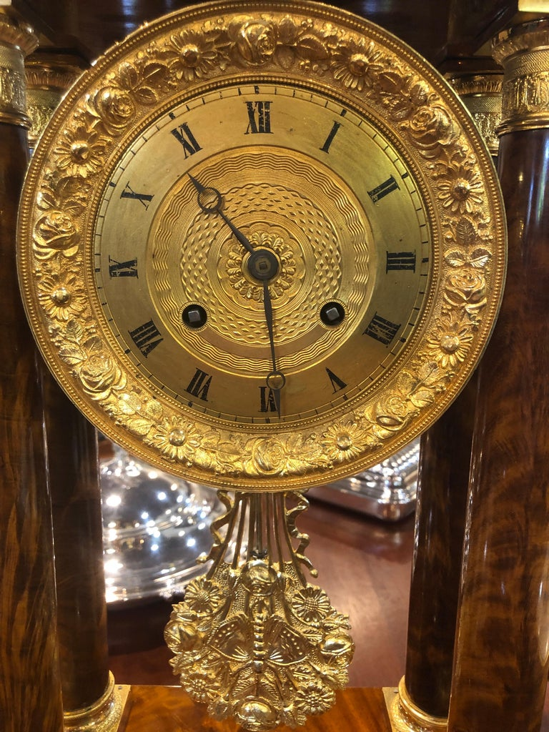19th Century Wood French Louis Philippe Mahogany Gilt Bronze For Sale 5