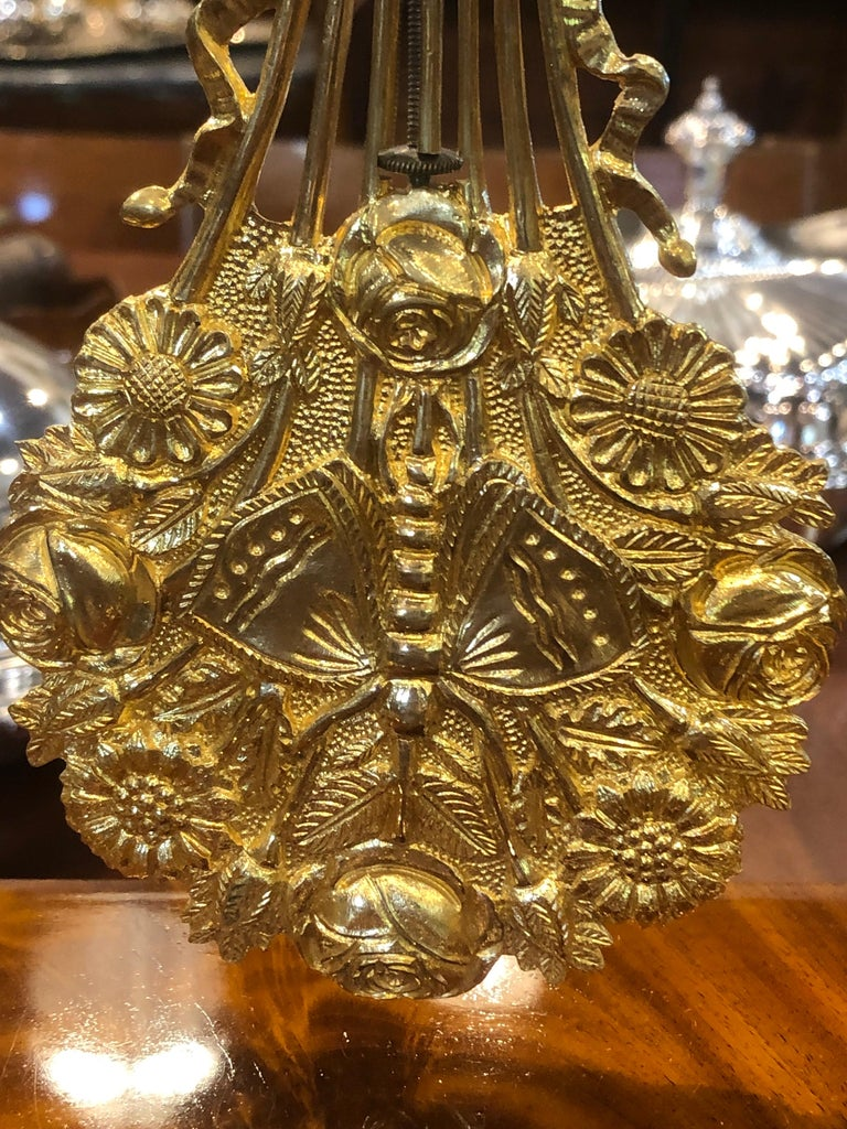 19th Century Wood French Louis Philippe Mahogany Gilt Bronze For Sale 7