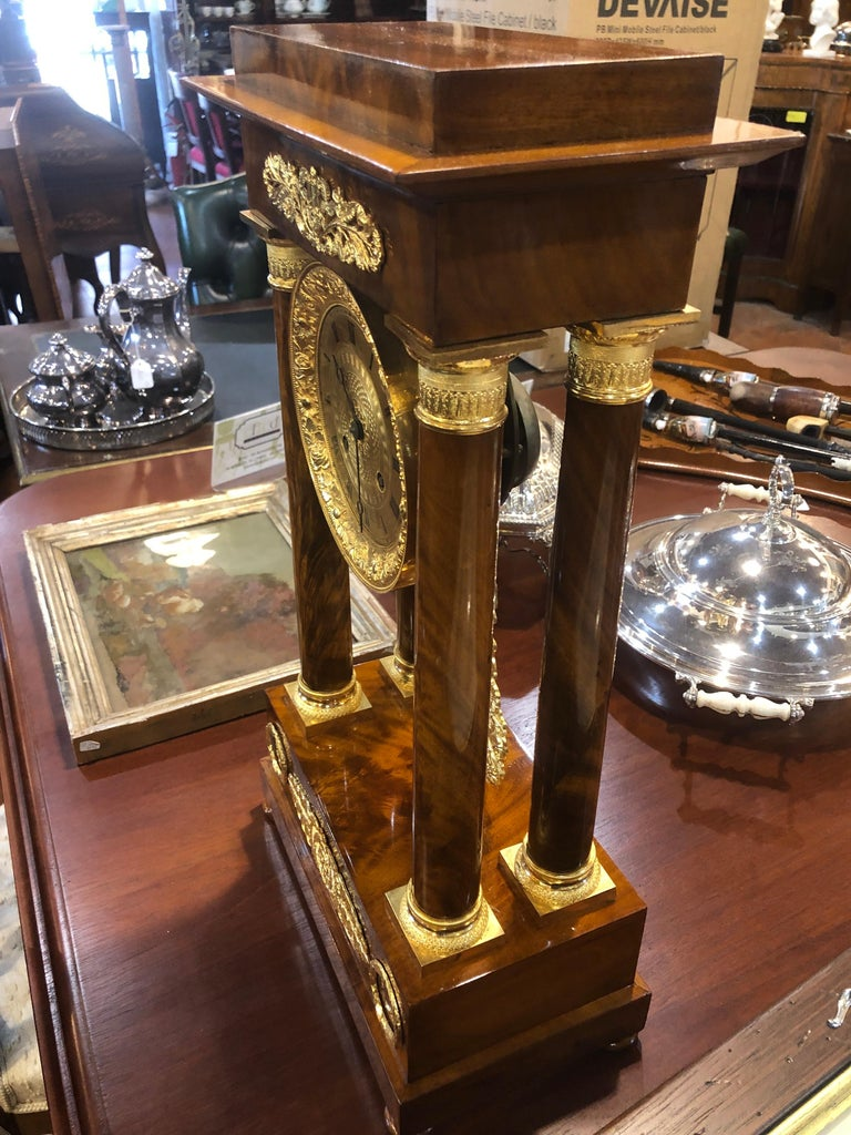 19th Century Wood French Louis Philippe Mahogany Gilt Bronze For Sale 1
