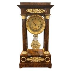 19th Century Wood French Louis Philippe Mahogany Gilt Bronze