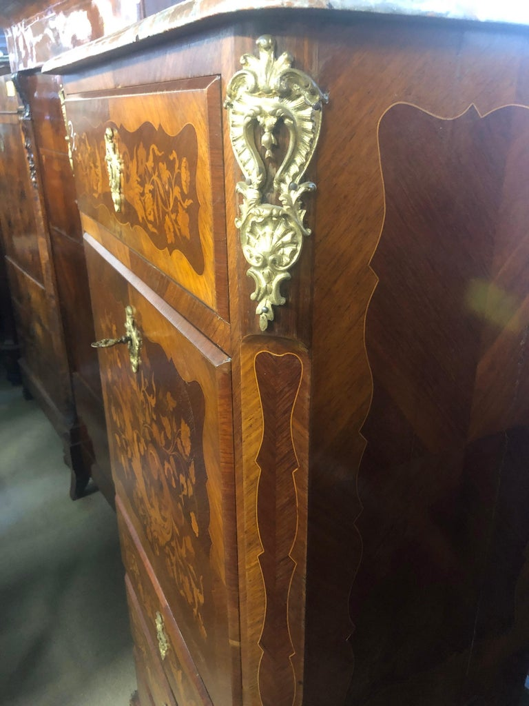19th Century Wood Louis XVI Revival Rosewood Pair of France Secretaire, 1880s For Sale 4