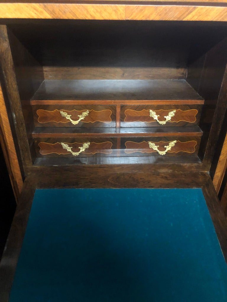 19th Century Wood Louis XVI Revival Rosewood Pair of France Secretaire, 1880s In Good Condition For Sale In Roma, RM