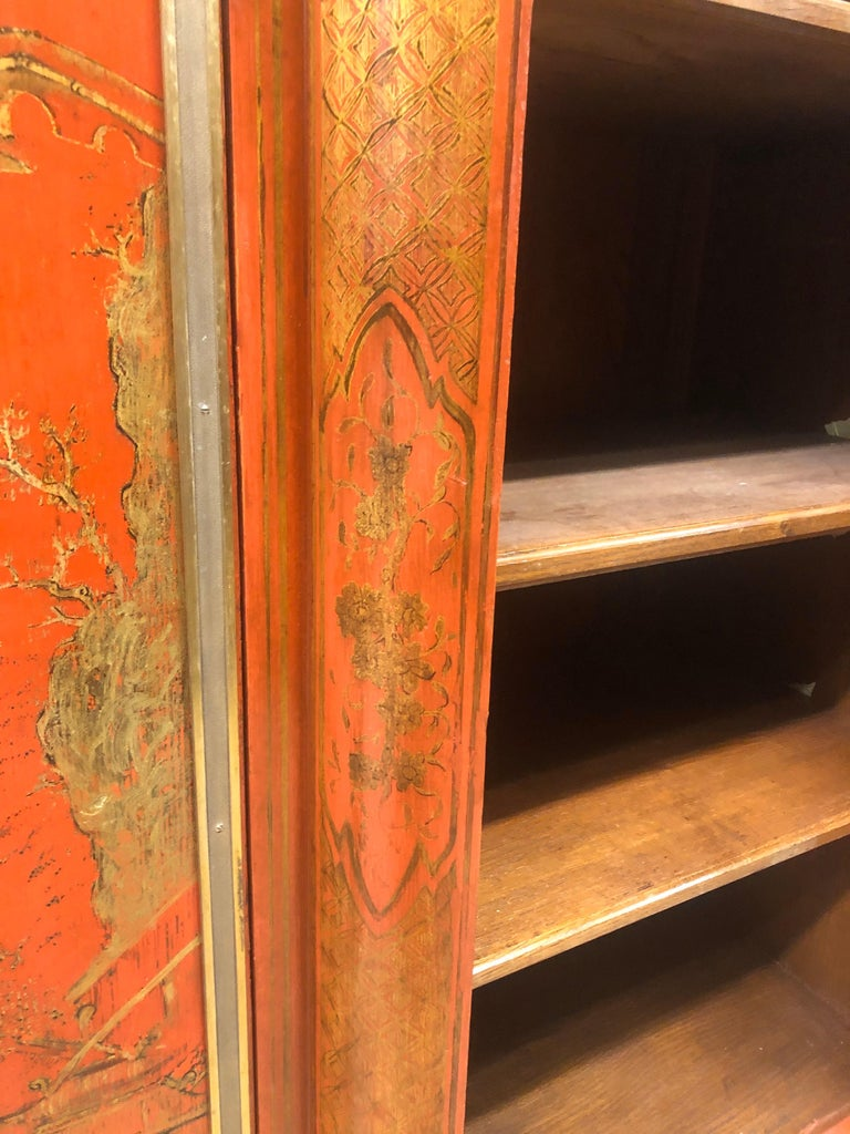 19th Century Wood Painted Gold Napoleon III Chinoiserie with Marble, 1860s For Sale 10