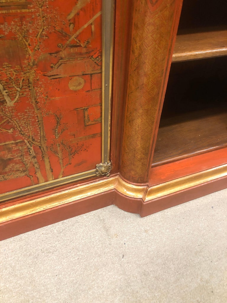 19th Century Wood Painted Gold Napoleon III Chinoiserie with Marble, 1860s For Sale 11