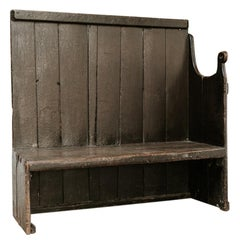 19th Century Wooden Bench, Wales, United Kingdom