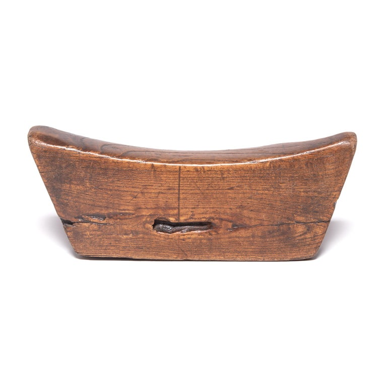 Qing 19th Century Wooden Chinese Headrest For Sale