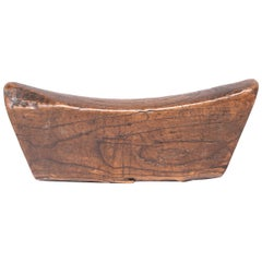 19th Century Wooden Chinese Headrest