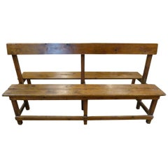 19th Century Wooden Double Sided Spanish Bench