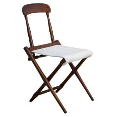 19th Century Wooden Folding Campaign Chair