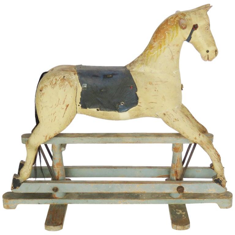 19th Century Wooden Rocking Horse