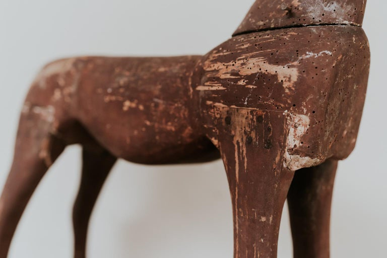 Found this naieve sculpted wooden horse in Sweden, can date it circa 1860-1880,