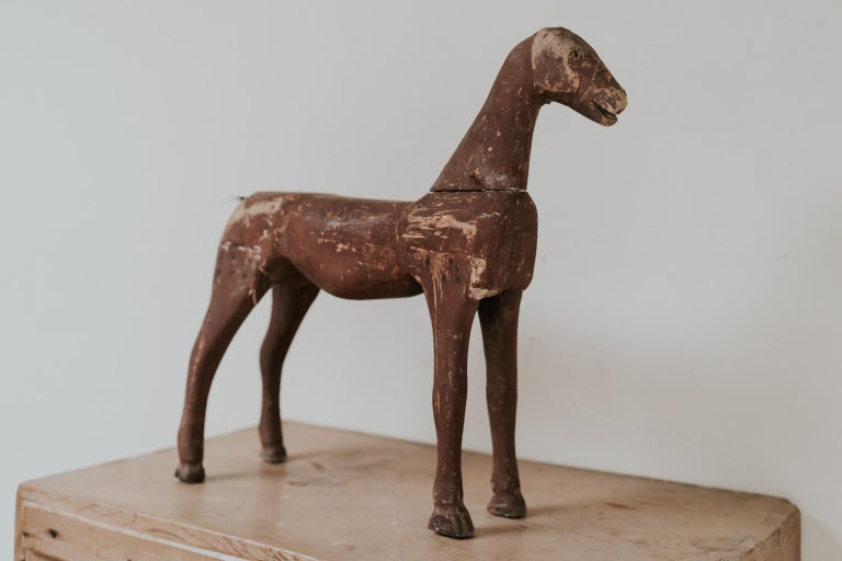 Pine 19th Century Wooden Toy Horse For Sale