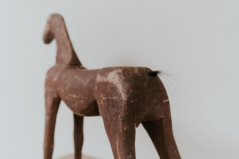 19th Century Wooden Toy Horse For Sale 1
