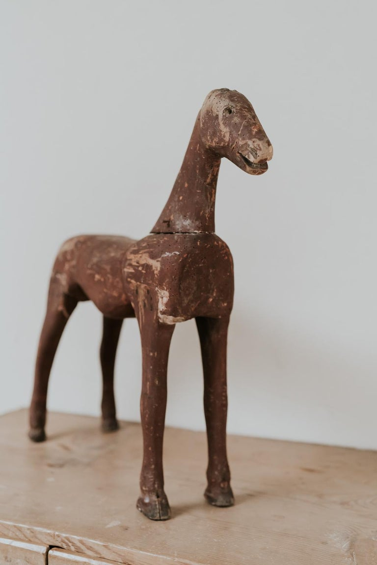 19th Century Wooden Toy Horse For Sale 2