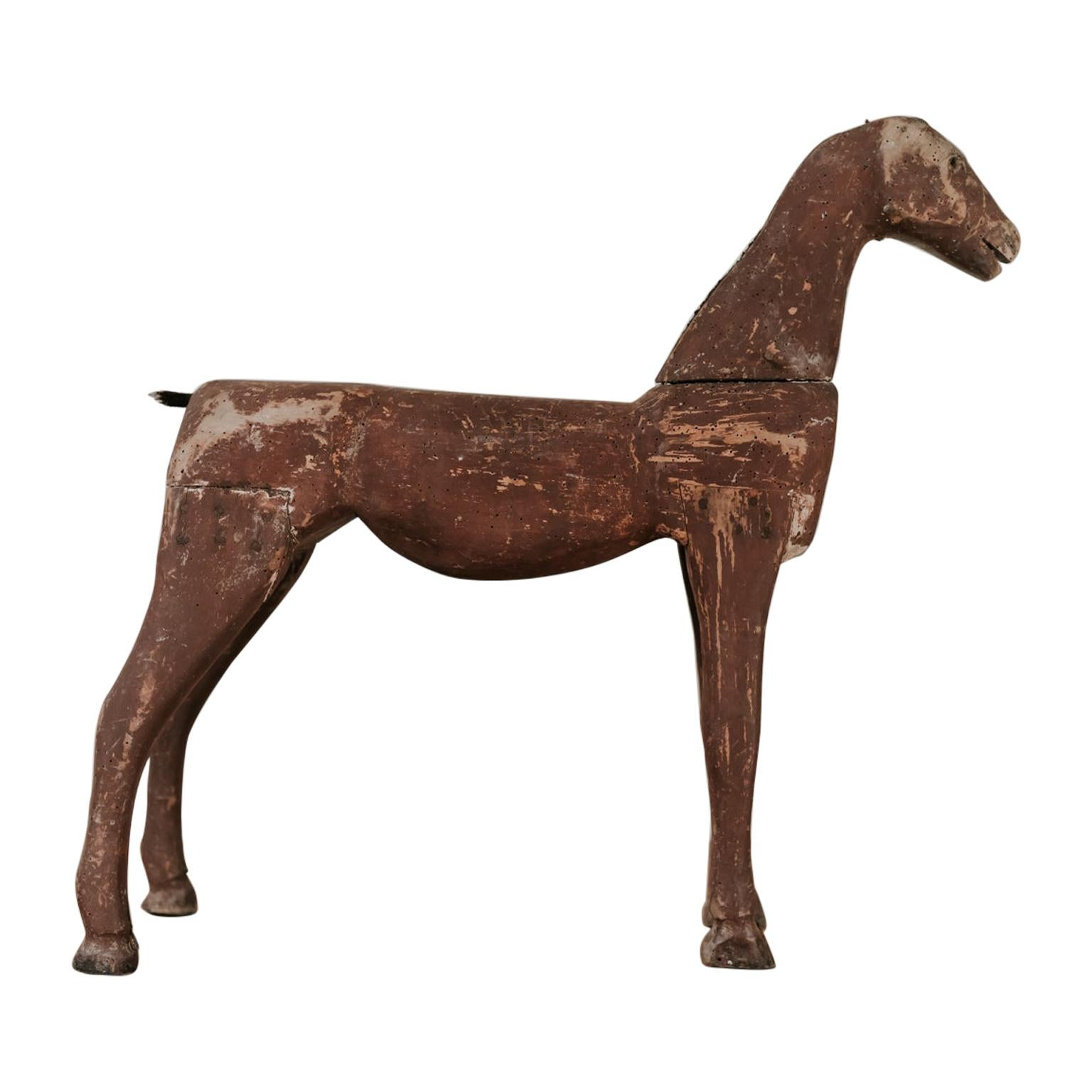 19th Century Wooden Toy Horse