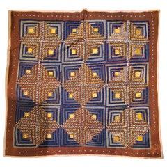 19th Century Wool Tied Comforter / Quilt