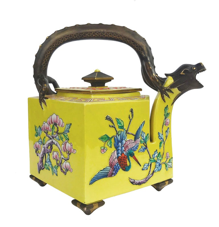 19th Century Worcester Royal Porcelain Works Aesthetic Movement Teapot For Sale
