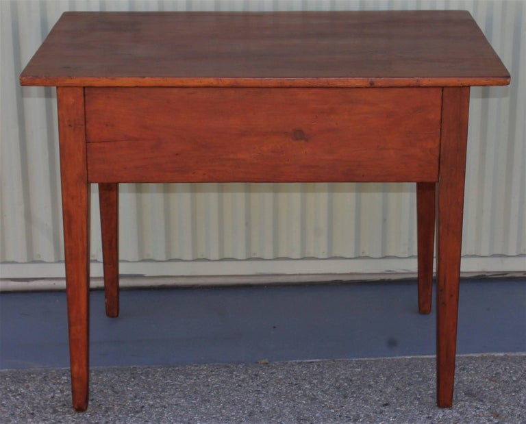 19th Century Work Table with Original Red Painted Wash For Sale 1