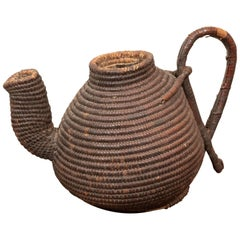 19th Century Woven Tea Basket, probably African