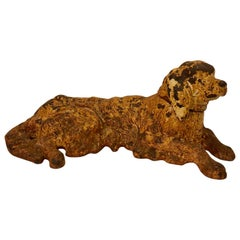 19th Century Wrought Iron Dog Sculpture or Paperweight of a Retriever