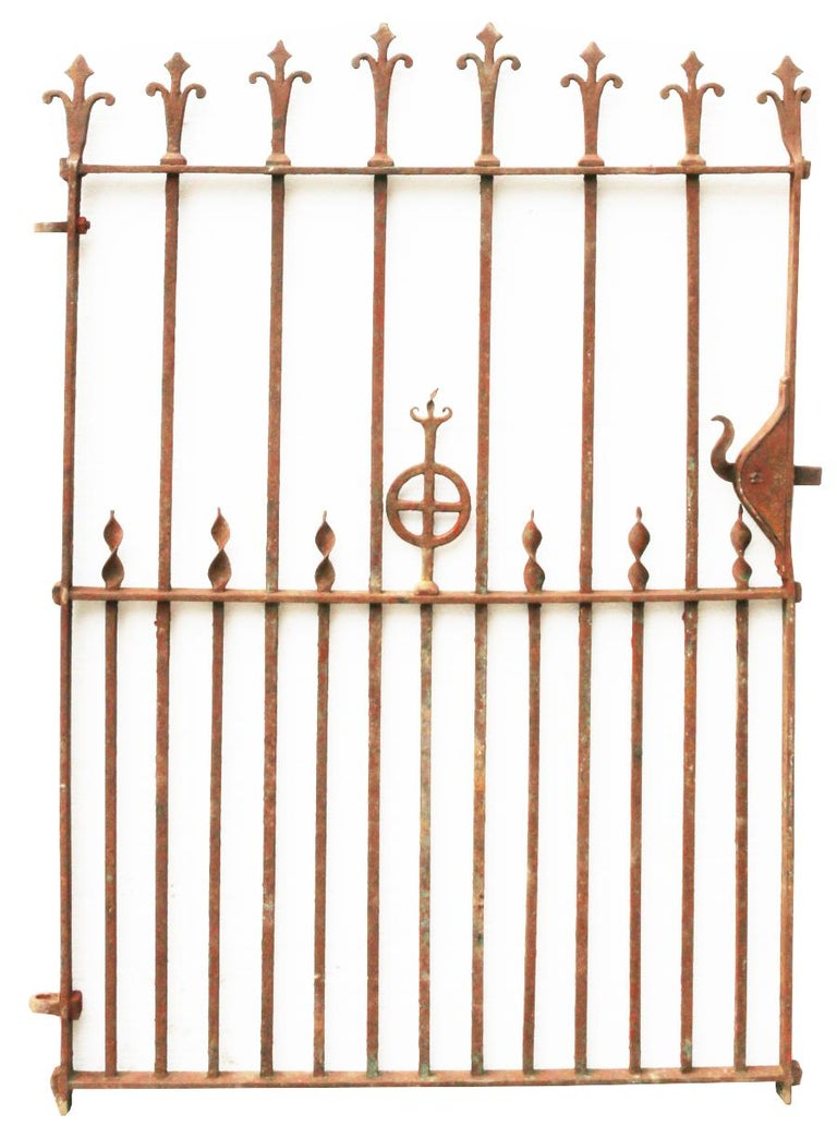 Victorian 19th Century Wrought Iron Pedestrian Gate For Sale