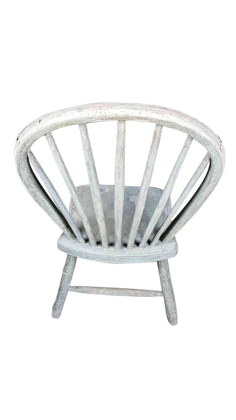 Painted 19th Century Yealmpton Chair in Original Finish For Sale