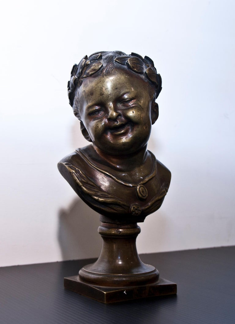 Classical Roman 19th Century Young Emperor Bust For Sale