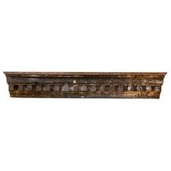 19th Century Zinc Cornice Shelf