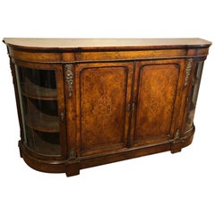 19th CenturyWalnut Inlaid Credenza