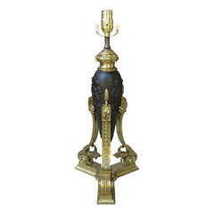 19th-Early 20th Century French Marble and Gilt Bronze Lamp
