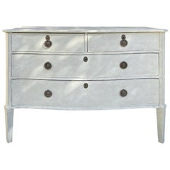 19th-Early 20th Century Italian Four-Drawer Commode with Custom Painted Finish