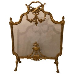 19th-Early 20th Century Louis XVI Style Bronze Firescreen