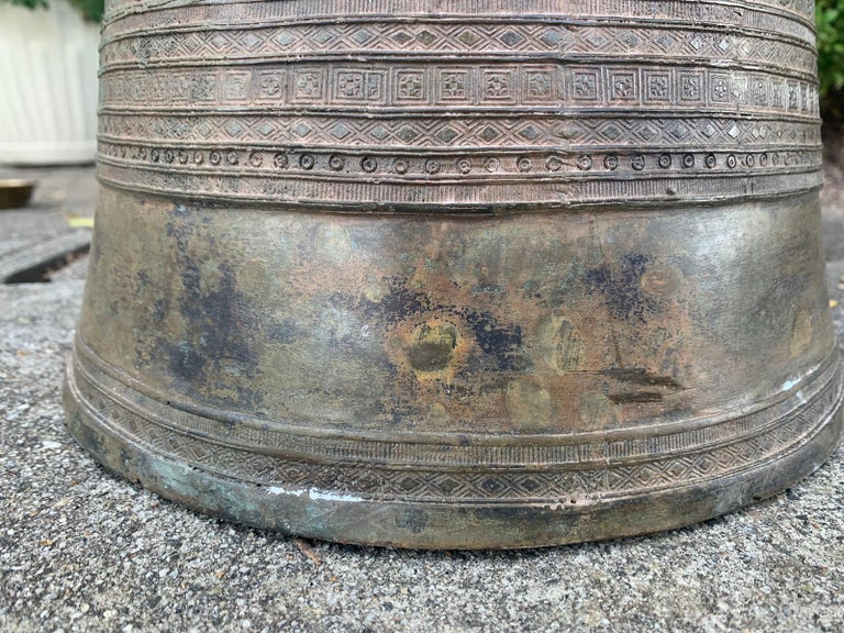 19th-Early 20th Century Metal Rain Drum For Sale 7