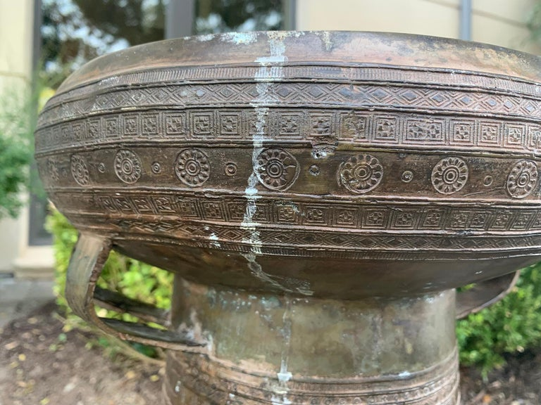 19th-Early 20th Century Metal Rain Drum For Sale 4