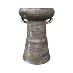 19th-Early 20th Century Metal Rain Drum
