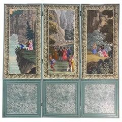 "19th-Early 20th Century Zuber ""Niagra Falls"" Three Panel Screen"