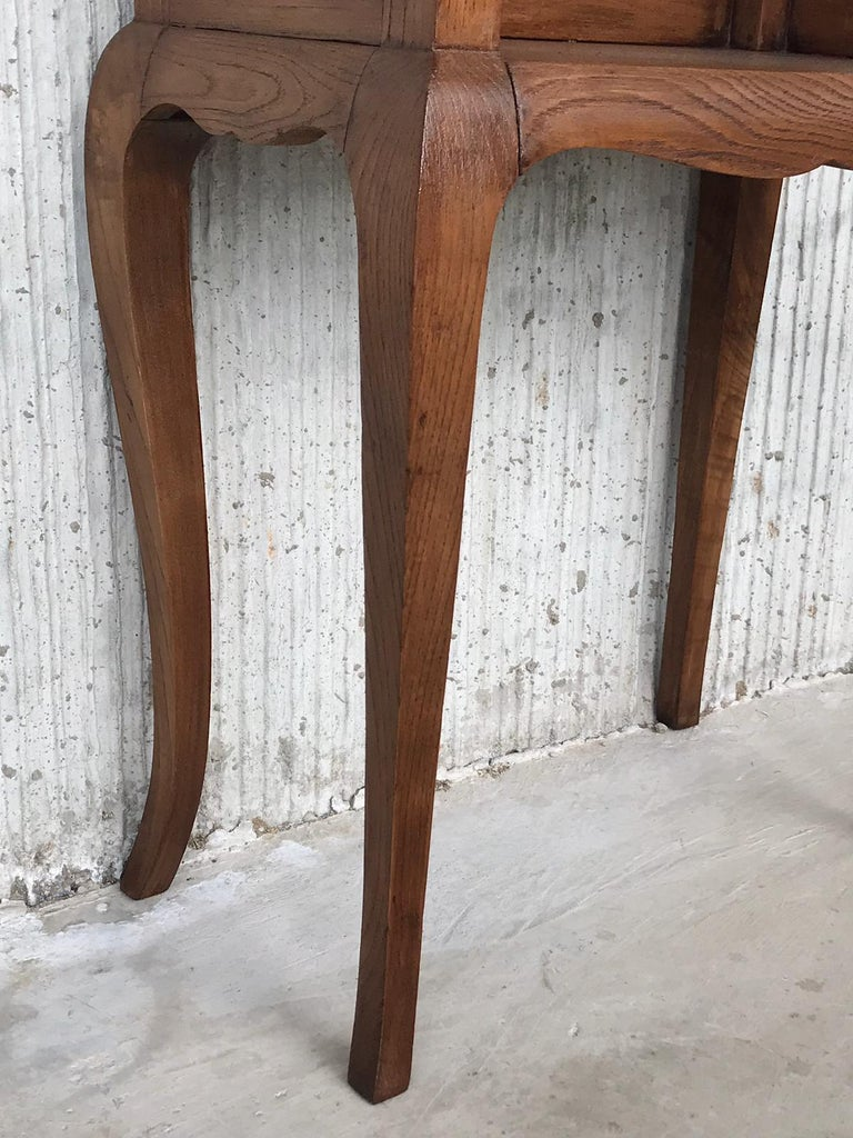 French Louis XV Style 19th Century Wooden Bedside Table with Open Shelf For Sale 9