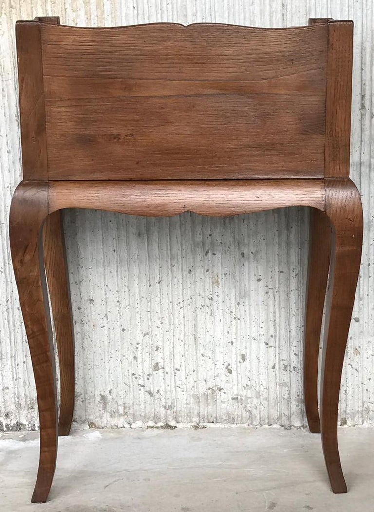 French Louis XV Style 19th Century Wooden Bedside Table with Open Shelf For Sale 3