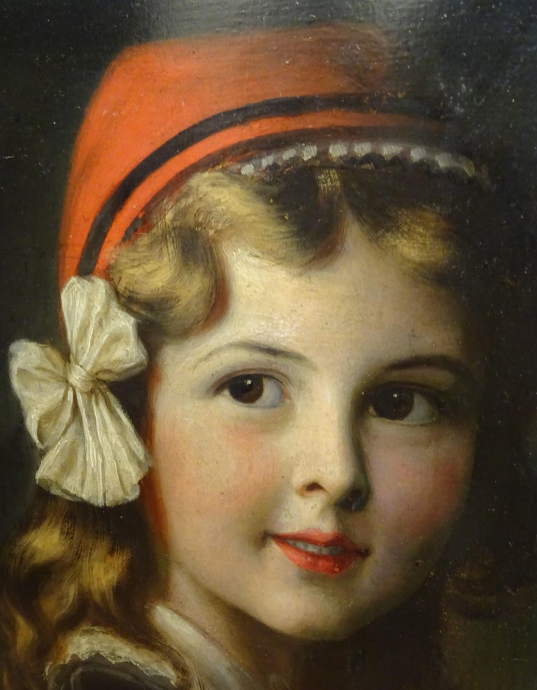 Outstanding oil on paperboard, French school, 19th century, Napoleón III,
