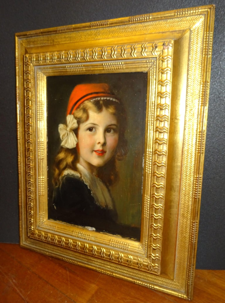 Late 19th Century French Oil on Paperboard