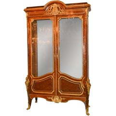19th French Vitrine Cabinet, Signed Linke